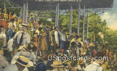 Race Track Crowd - Myrtle Beach, South Carolina SC Postcard