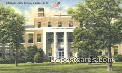 Edumnds High School - Sumter, South Carolina SC Postcard
