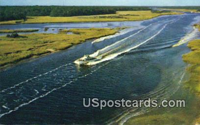 Yachting on the Inland Waterway - Myrtle Beach, South Carolina SC Postcard