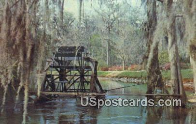 Water Wheel, Eidsto Memorial Gardens - Orangeburg, South Carolina SC Postcard