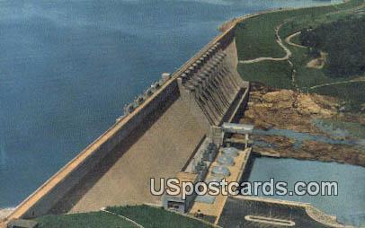 Hartwell Dam & Reservoir - Anderson, South Carolina SC Postcard