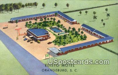Edisto Motel - Orangeburg, South Carolina SC Postcard