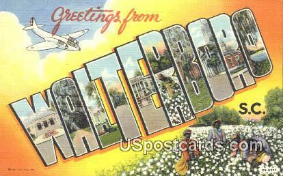 Walterboro, SC Postcard     ;     Walterboro, South Carolina