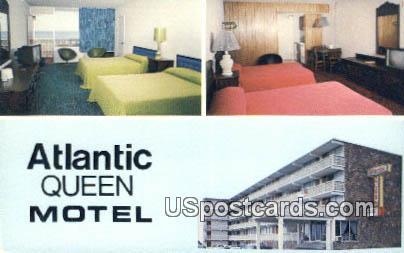Atlantic Queen Motel - Myrtle Beach, South Carolina SC Postcard