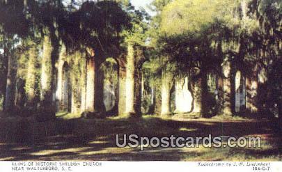 Ruins of Historic Sheldon Church - Walterboro, South Carolina SC Postcard