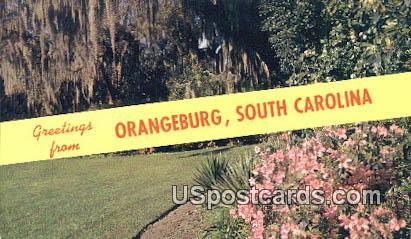 Orangeburg, South Carolina Postcard      ;      Orangeburg, SC