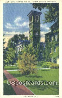 Bell Tower, Furman University - Greenville, South Carolina SC Postcard