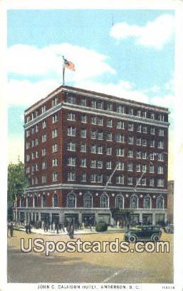 John C Calhoun Hotel - Anderson, South Carolina SC Postcard
