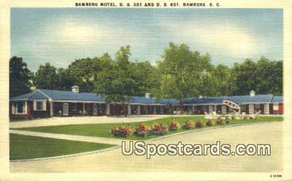 Bamberg Motel - South Carolina SC Postcard