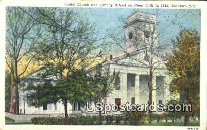 Baptist Church, 1812 - Beaufort, South Carolina SC Postcard