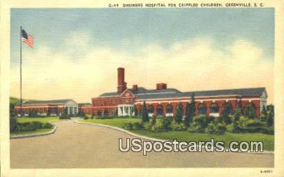 Shriners Hospital for Crippled Children - Greenville, South Carolina SC Postcard