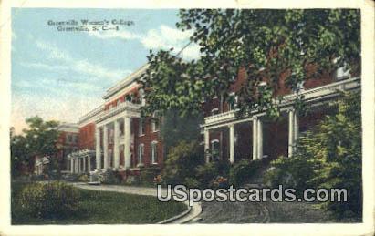 Greenville Women's College - South Carolina SC Postcard