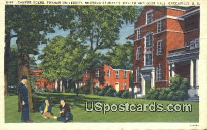 Furman University - Greenville, South Carolina SC Postcard