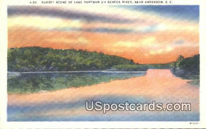 Lake Portman, Seneca River - Anderson, South Carolina SC Postcard