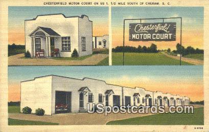 Chesterfield Motor Court - Cheraw, South Carolina SC Postcard