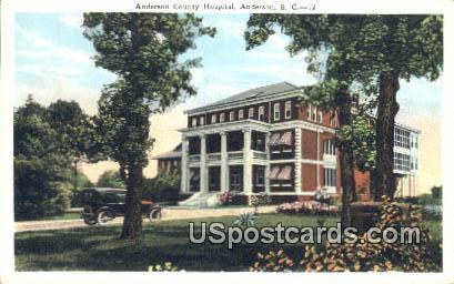 Anderson County Hospital - South Carolina SC Postcard