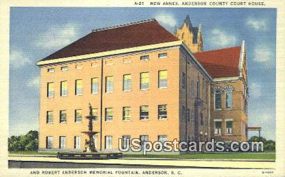 New Annex, Anderson County Court House - South Carolina SC Postcard