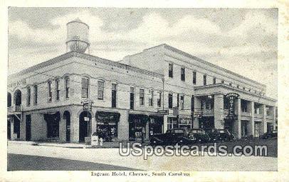 Ingram Hotel - Cheraw, South Carolina SC Postcard