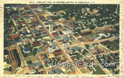 Business Section - Greenville, South Carolina SC Postcard