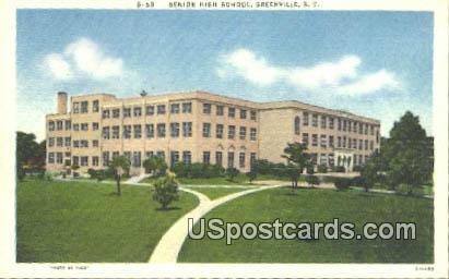 Senior High School - Greenville, South Carolina SC Postcard