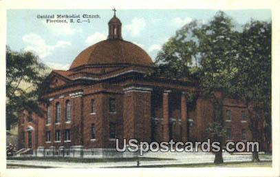 Central Methodist Church - Florence, South Carolina SC Postcard