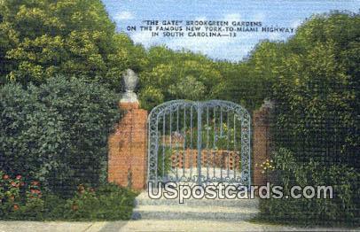 Gate, Brookgreen Gardens - South Carolina SC Postcard