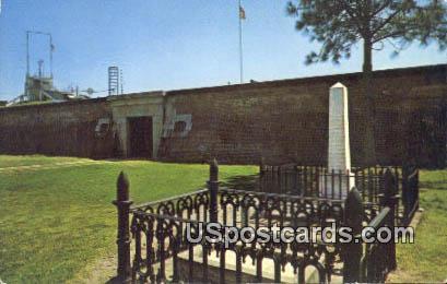 Grave of Indian Chief Osceola Fort Moultrie - Sullivans Island, South Carolina SC Postcard