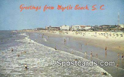 Grand Strand - Myrtle Beach, South Carolina SC Postcard