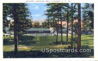 Municipal Swimming Pool - Florence, South Carolina SC Postcard