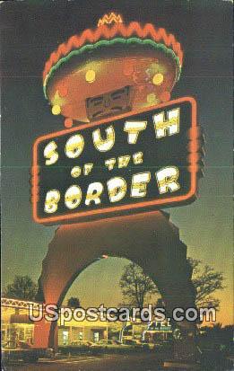 South of the Border, South Carolina Postcard      ;      South of the Border, SC