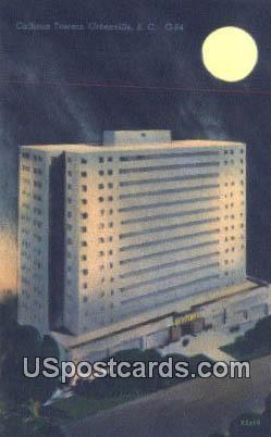 Calhoun Towers - Greenville, South Carolina SC Postcard