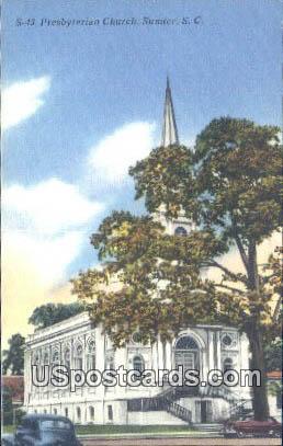 Presbyterian Church - Sumter, South Carolina SC Postcard
