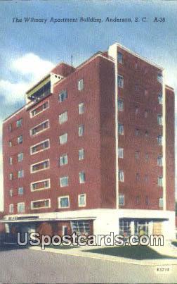 Wilmary Apartment Building - Anderson, South Carolina SC Postcard