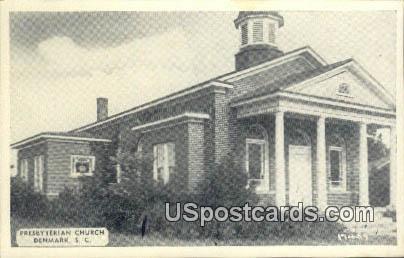 Presbyterian Church - Denmark, South Carolina SC Postcard