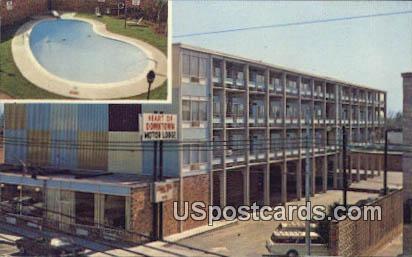 Heart of Downtown Motor Lodge - Florence, South Carolina SC Postcard