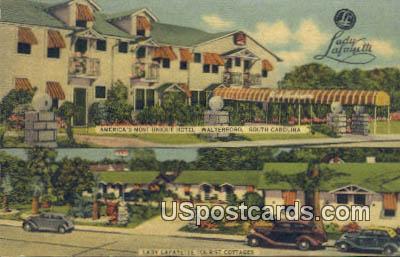 Lady Lafayette Tourist Cottages - Walterboro, South Carolina SC Postcard