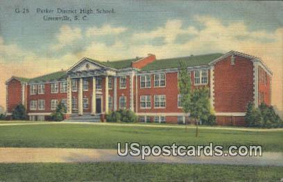 Parker District High School - Greenville, South Carolina SC Postcard