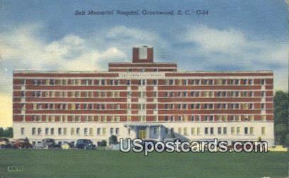 Self Memorial Hospital - Greenwood, South Carolina SC Postcard