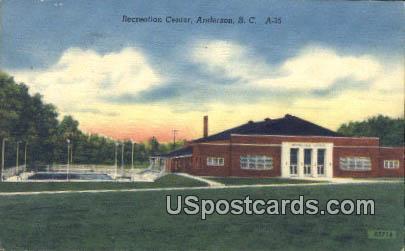 Recreation Center - Anderson, South Carolina SC Postcard