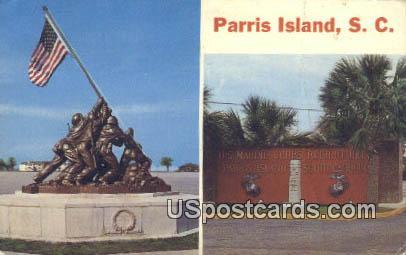 Parris Island, SC Postcard     ;     Parris Island, South Carolina