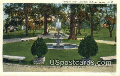 Limestone College - Gaffney, South Carolina SC Postcard