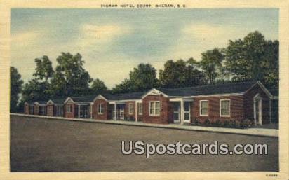 Ingram Hotel Court - Cheraw, South Carolina SC Postcard