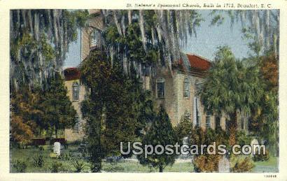 St Helena Episcopal Church - Beaufort, South Carolina SC Postcard