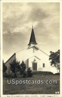 2nd Regimental Area Chapel - Camp Croft, South Carolina SC Postcard