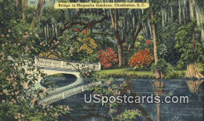 Bridge, Magnolia Gardens - Charleston, South Carolina SC Postcard