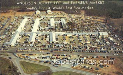 Anderson Jockey Lot & Farmers Market - South Carolina SC Postcard