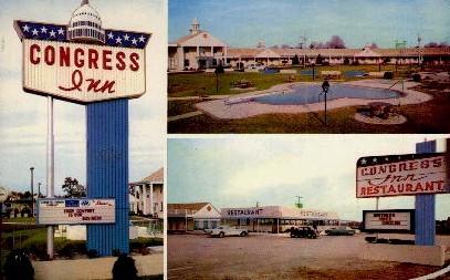 Congress Inn - Santee, South Carolina SC Postcard