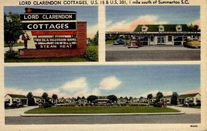 Lord Clarendon Cottages - Summerton, South Carolina SC Postcard