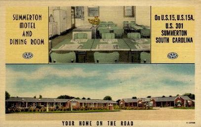 Summerton Motel and Dining Room - South Carolina SC Postcard