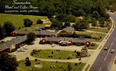 Summerton Motel and Coffee Shoppe - South Carolina SC Postcard